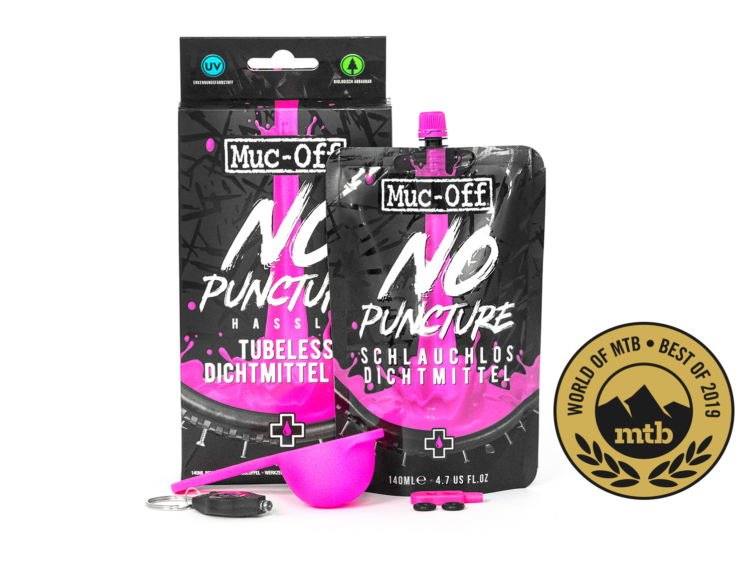 Muc-Off Tubeless Dichtmittel 140ml KIT