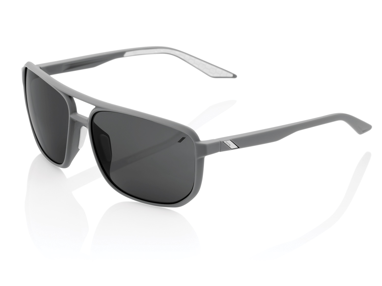 100% Konnor Aviator - Smoke Lense  - soft tact dark haze