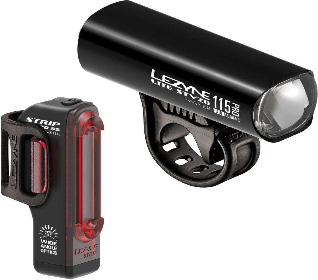 Lezyne LED Fahrradbeleuchtungsset Lite PRO 115 & Strip Drive StVZO