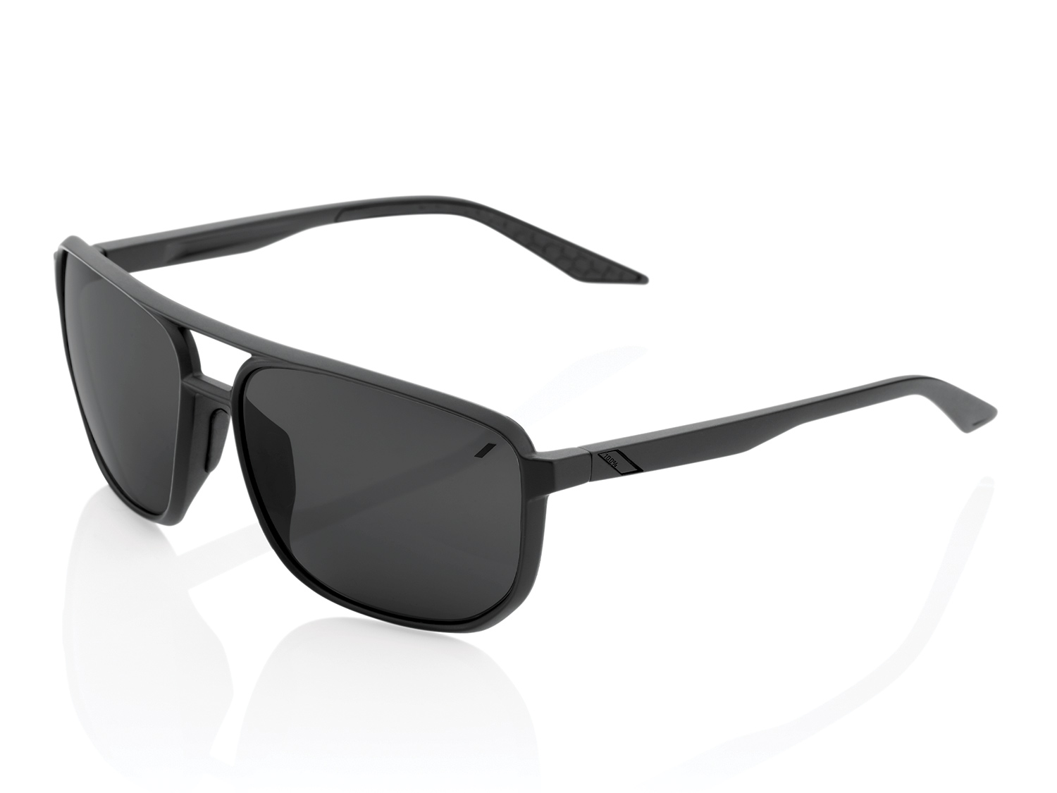 100% Konnor Aviator - Mirror Lense  - matte black
