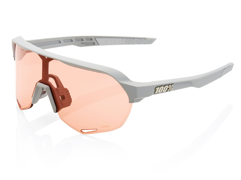 100% S2 - Hiper Mirror Lense - soft tact stone grey