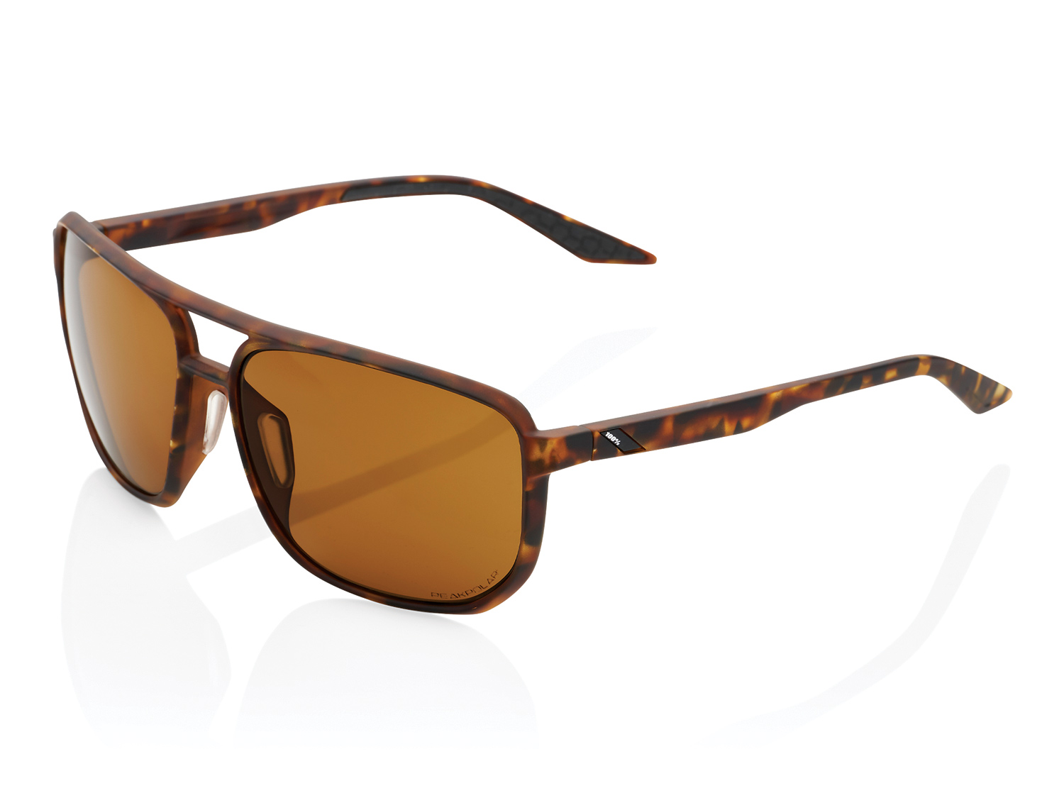 100% Konnor Aviator - Peak Polar Lense - soft tact havanna